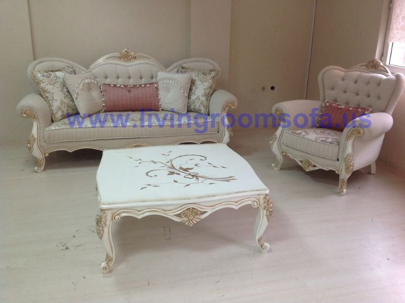 classic sofa and bergere and coffie table