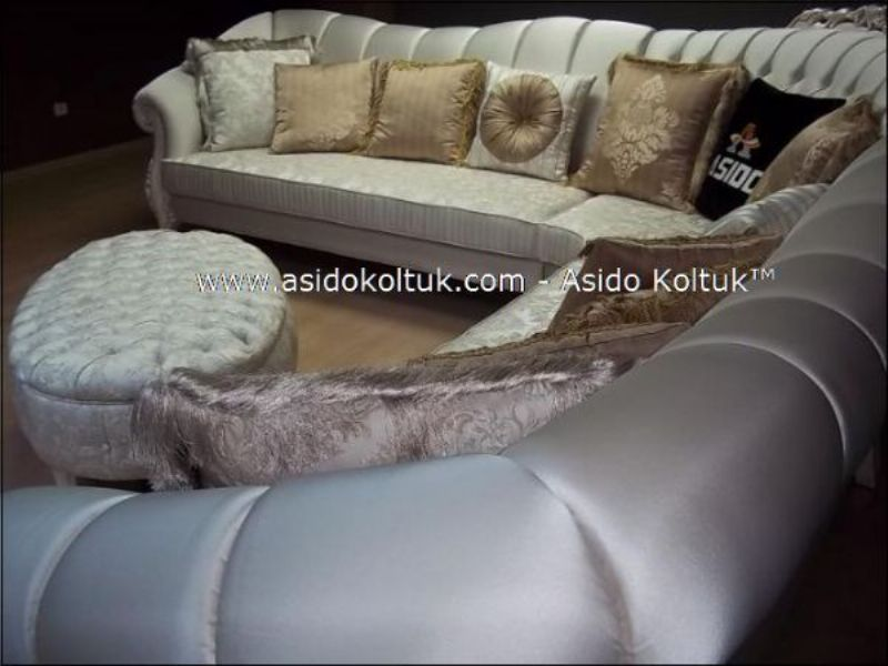 classical woven fabric corner sofas