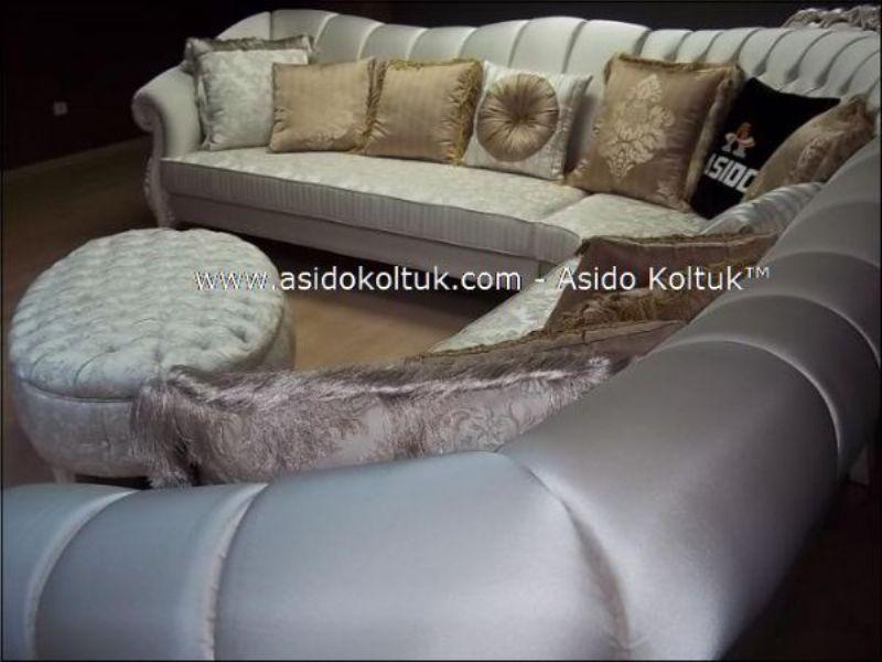 classical woven fabric corner sofas