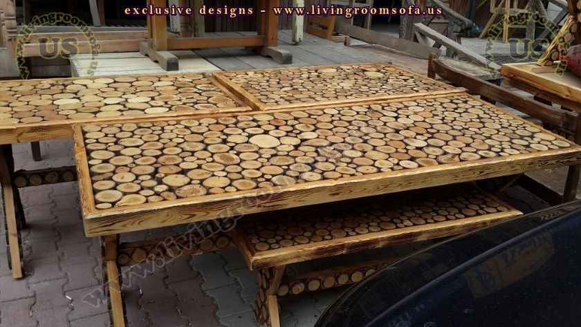 cool wooden outdoor dining table design idea