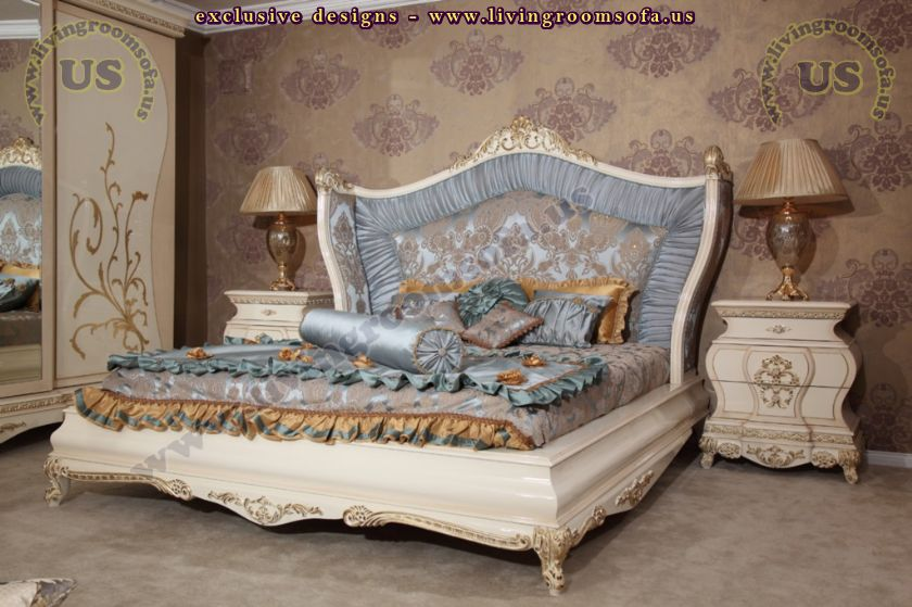 excellent bedroom bed design carved wooden