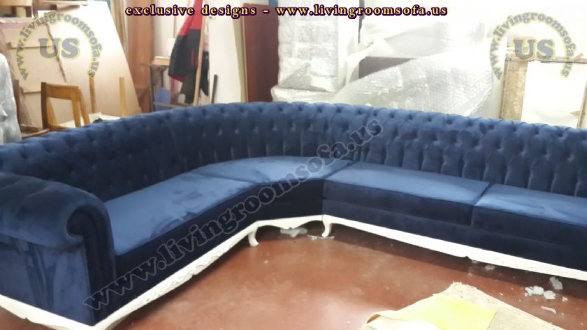 exclusive work chesterfield l shaped sofa
