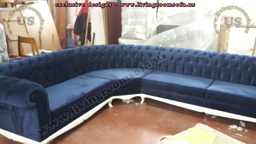 Wooden legs lukens chesterfield corner sofa interior design