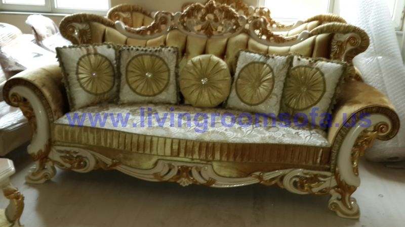 gold classic sofa design