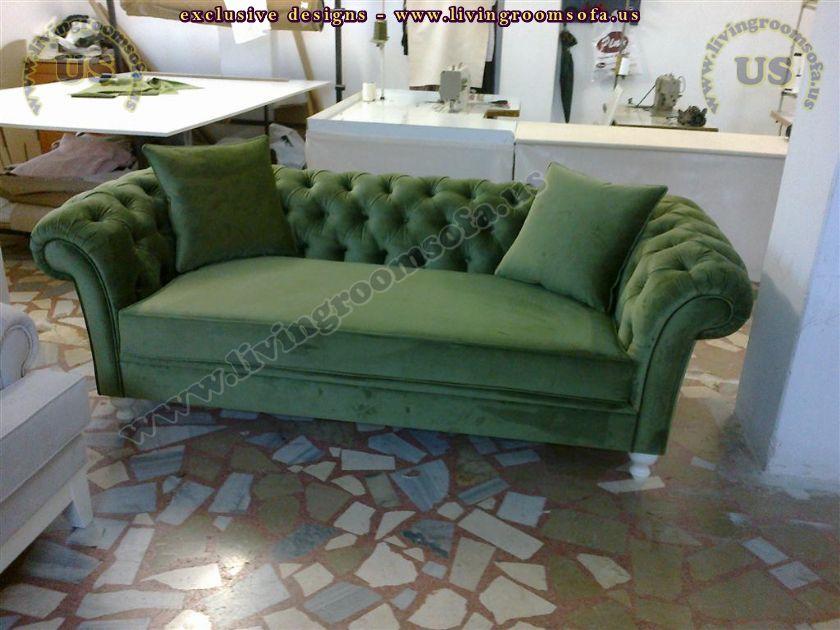 green chesterfield usa design