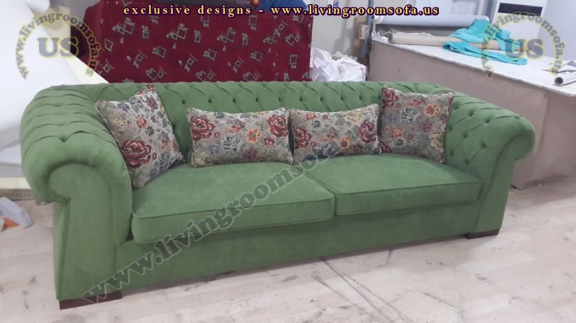 green classic couches