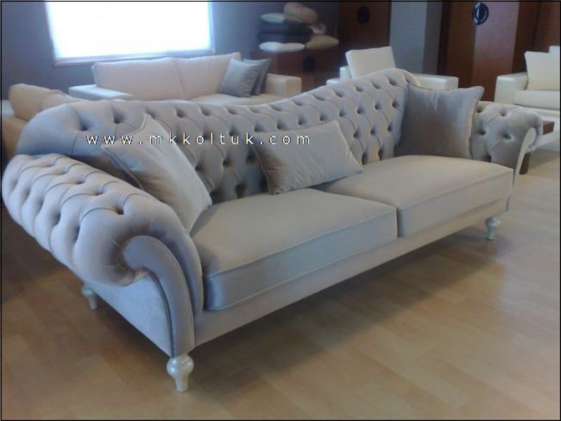 Chesterfield Grey Sofa Style On