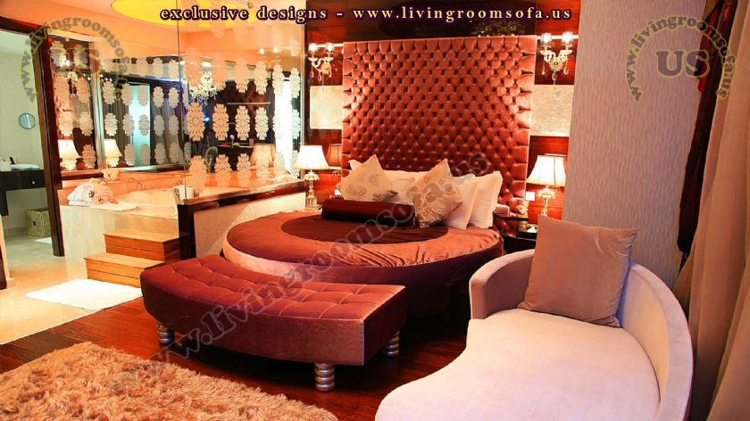 king bedroom design rounded bed hotel room