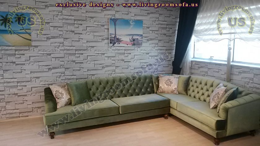 l shaped chesterfield interior design idea