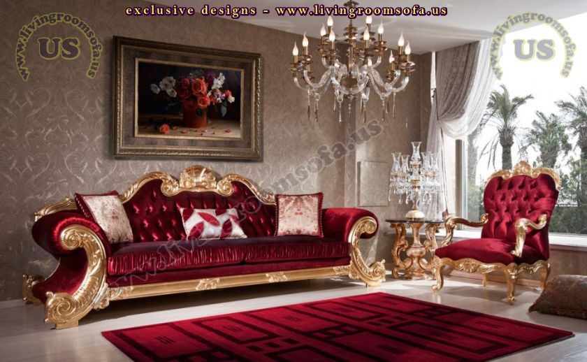 Living Room Sofa Designs Classic Avantgarde Carved