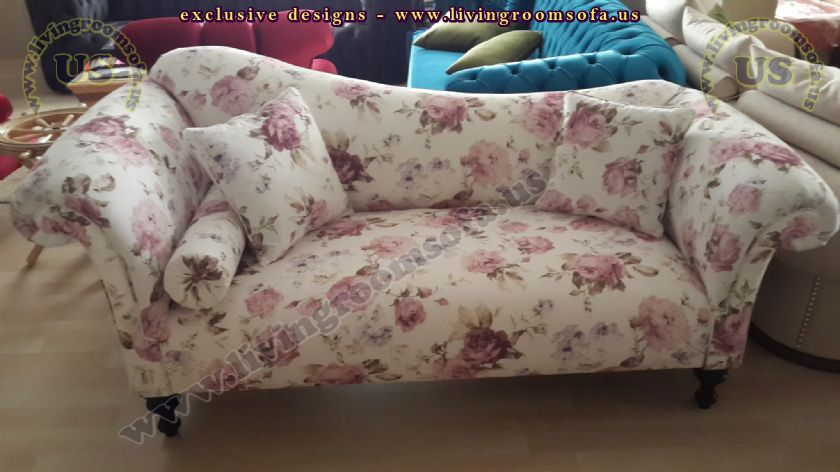 loveseat for girls flower patterned