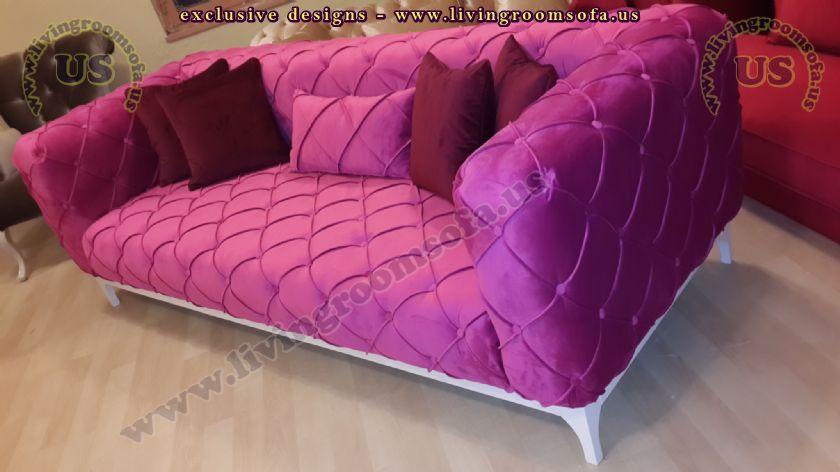 maroon chesterfield sofa modern design