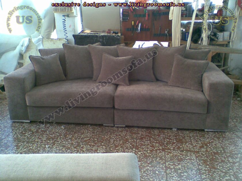 modern brown fabric couch design