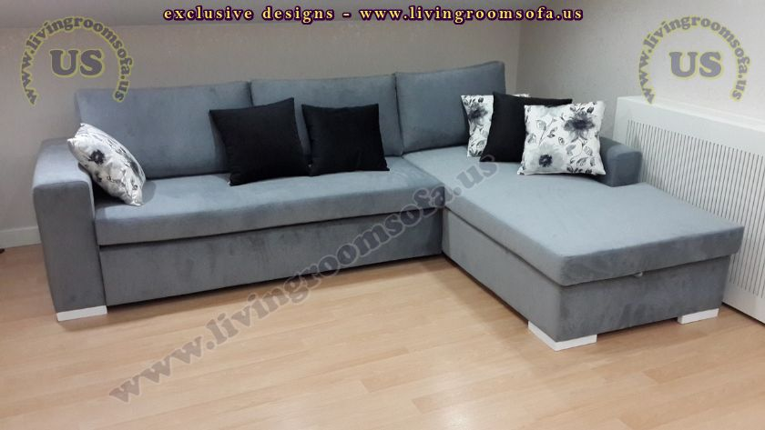 Modern navy blue sectional sofa l shaped design for L shaped sofa decorating ideas