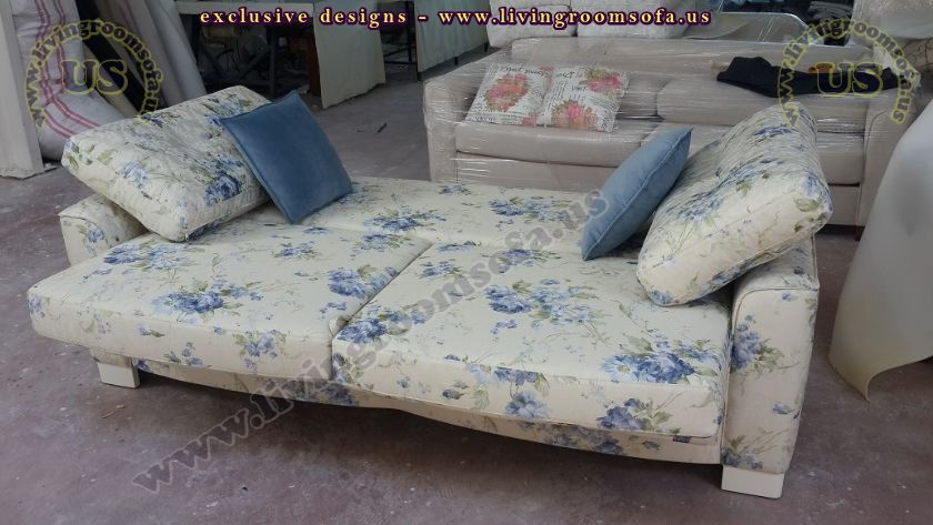 modern sofabed floral fabric design