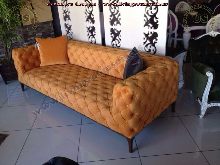 orange decorative couch design