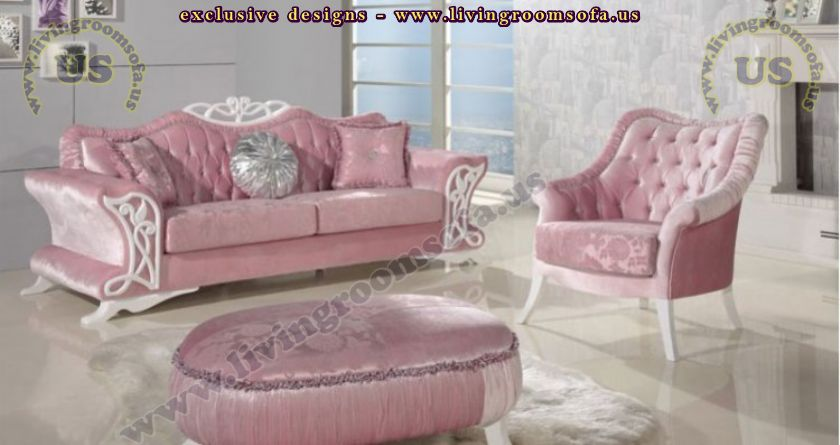 pink avantgarde sofa set beautiful design