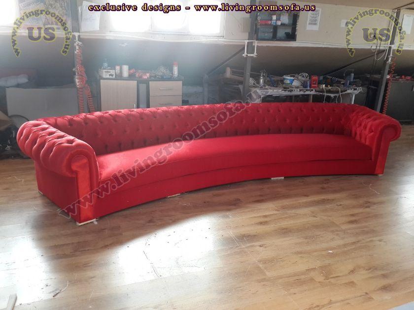 red velvet chesterfield sofa shiny living room - Exclusive ...