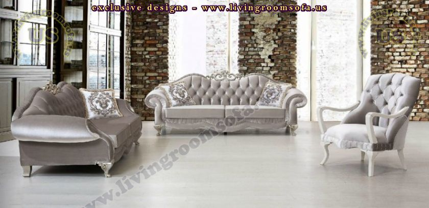 shiny grey avantgarde living room sofa sets