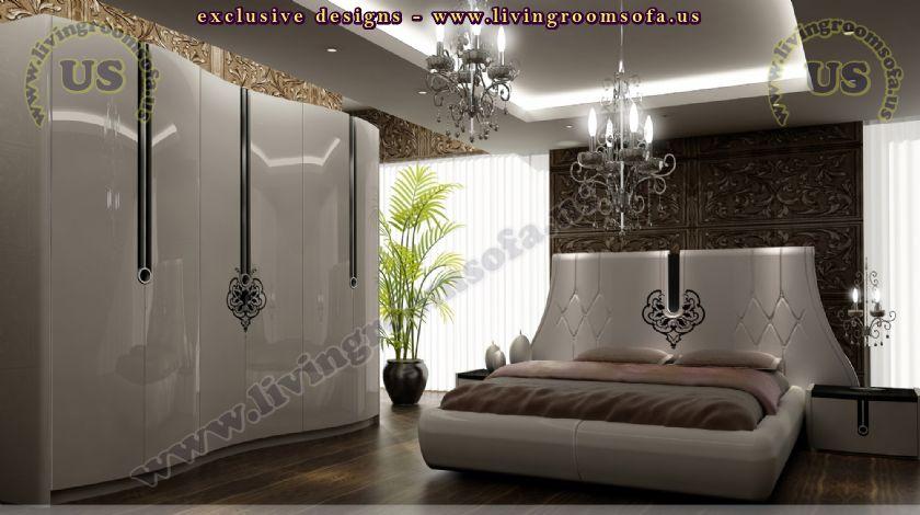 Avantgarde Bedroom Design Idea Rounded Bed Shiny Exclusive Design