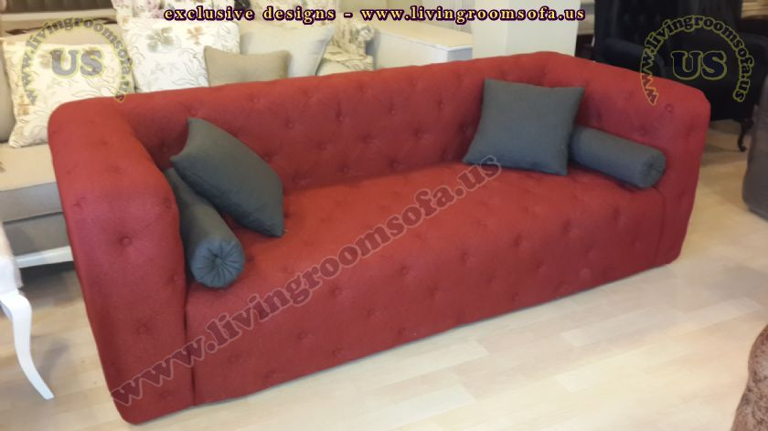 testaceous chesterfield sofa modern design