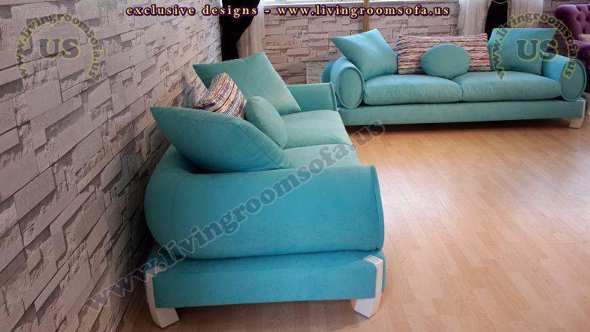 turquoise modern sofa sets living room designs