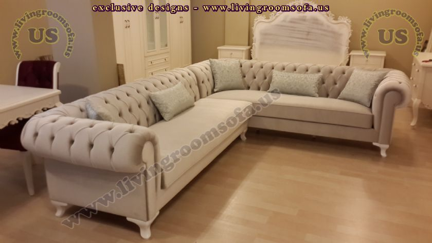 Modern Chesterfield Corner Sofa Leather Chesterfield Sofa
