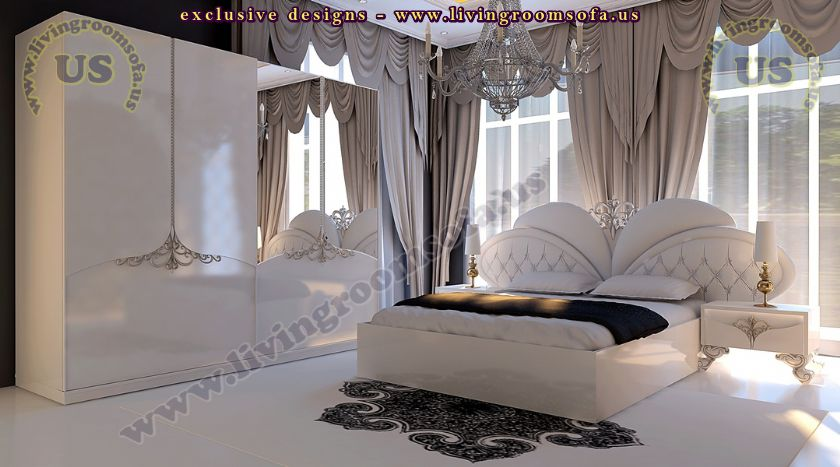 White Avantgarde Bedroom Decoration Idea