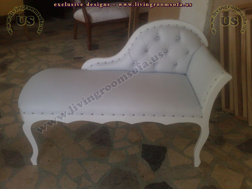 white leather small loveseat